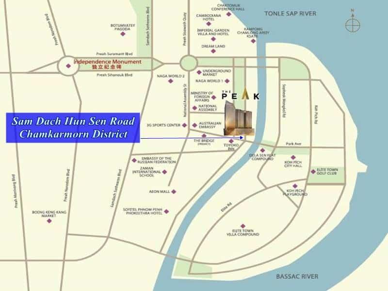 The Peak Cambodia Location Map