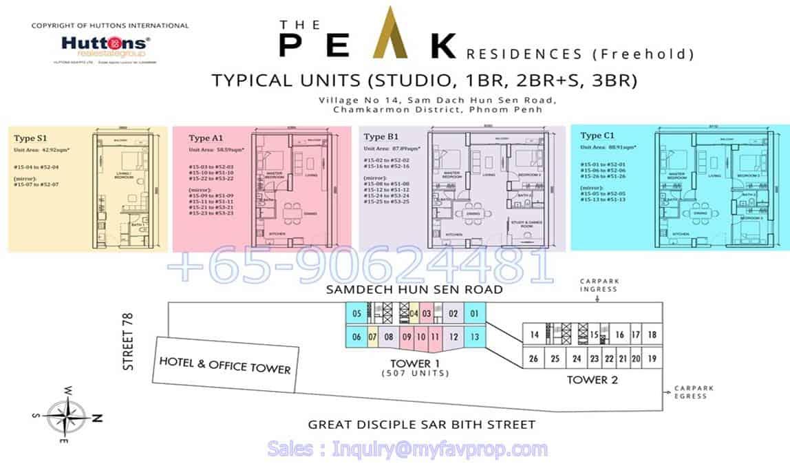 The Peak Cambodia - T1 Floor Plan
