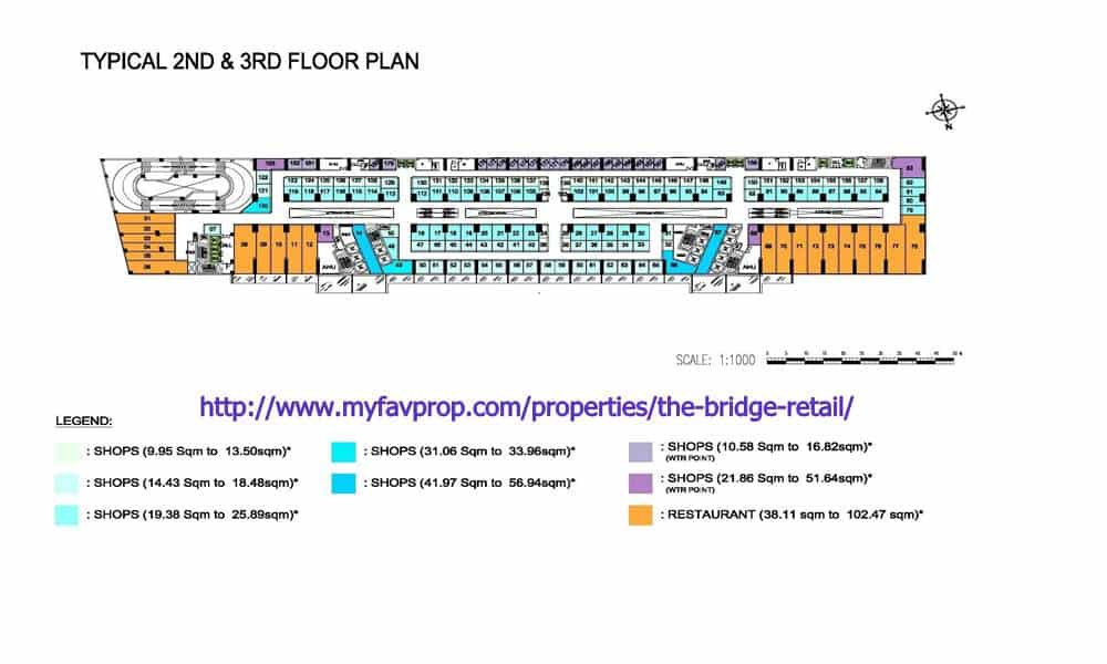 The Bridge Retail L2 & L3 Floor Plate
