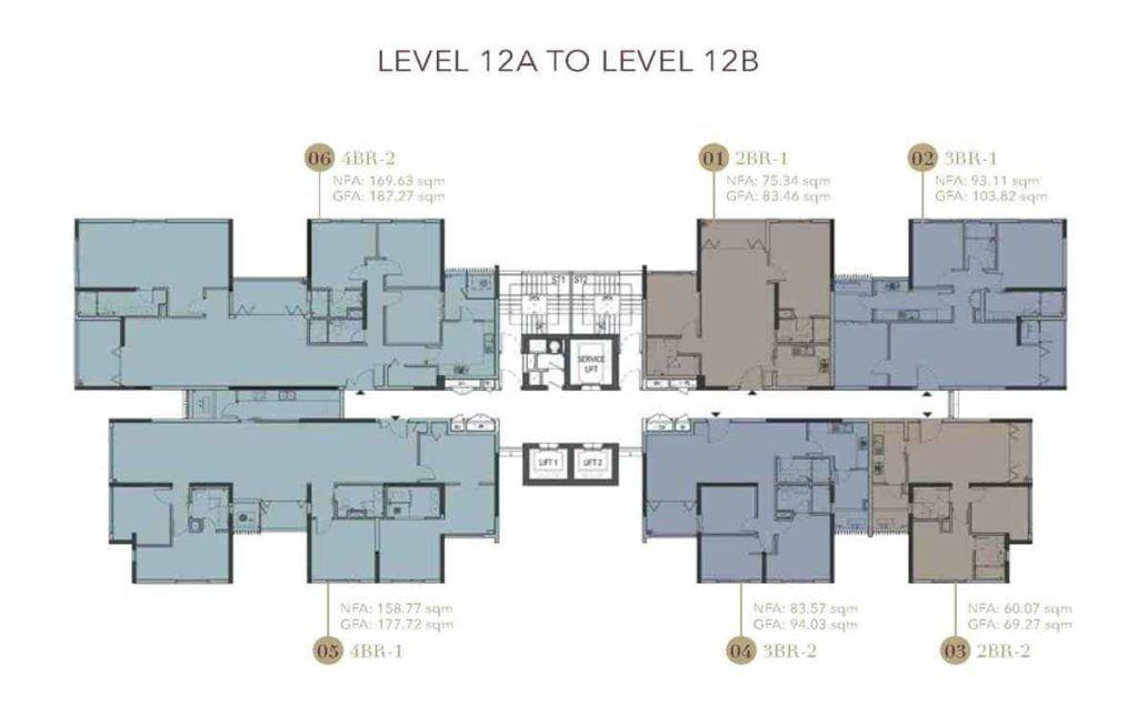 D1mension HCMC - Level 12A & 12B Floor Plate