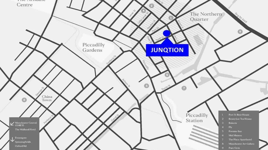 Junqtion - Location map