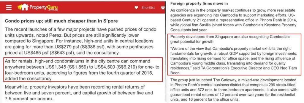 Condo Price & Foreign Developer