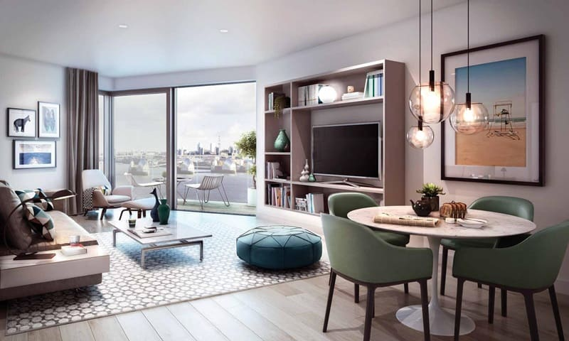 Royal Wharf Living Room