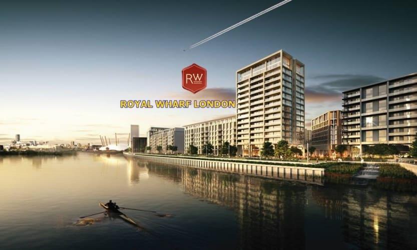 Royal Wharf London - waterfront view