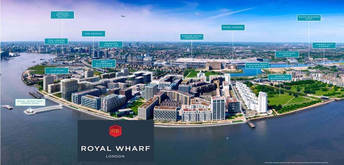 Royal Wharf London - Aerial View 1