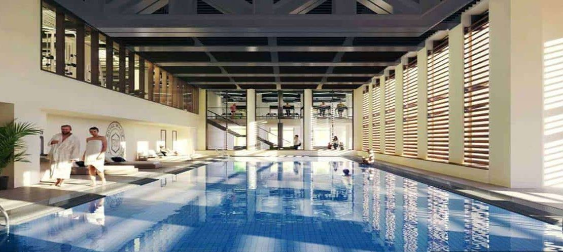 Royal Wharf London Clubhouse Heated Pool