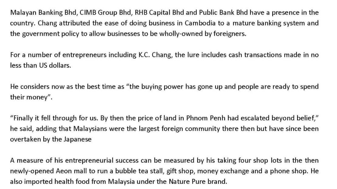 Entrepreneurs Expereience in Cambodia