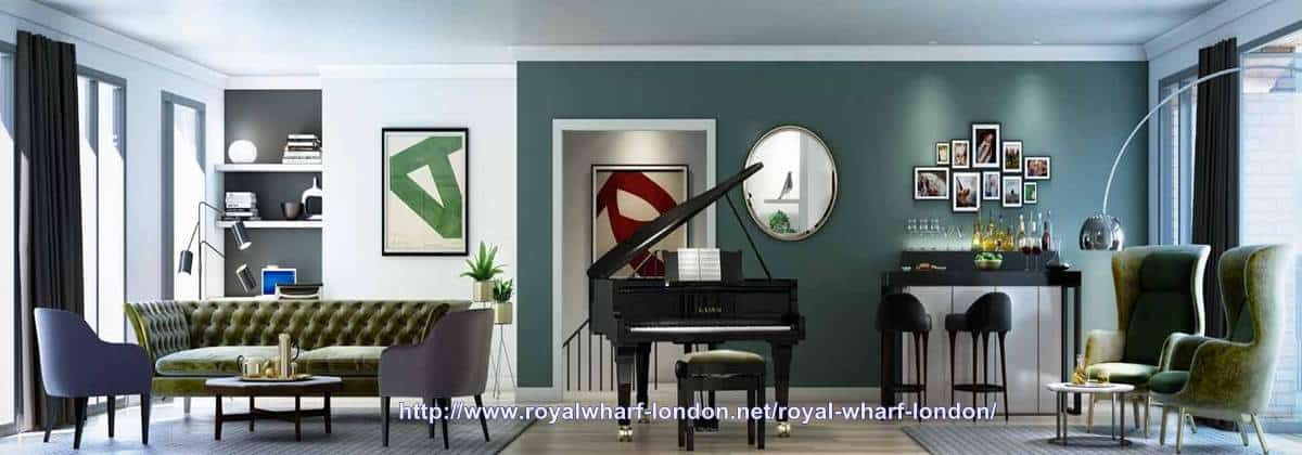 Royal Wharf Townhouse Interior