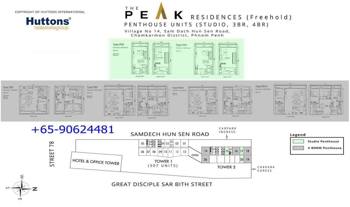 The Peak Cambodia - 3BR & 4BR floor plan