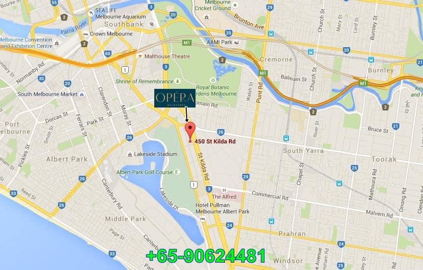 Opera Location Map