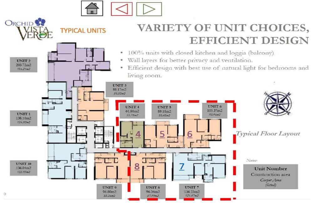 Vista Verde - Orchid Tower Floor Plan