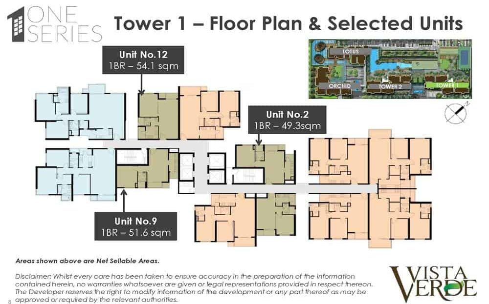 Vista Verde - Tower 1 Floor Plan