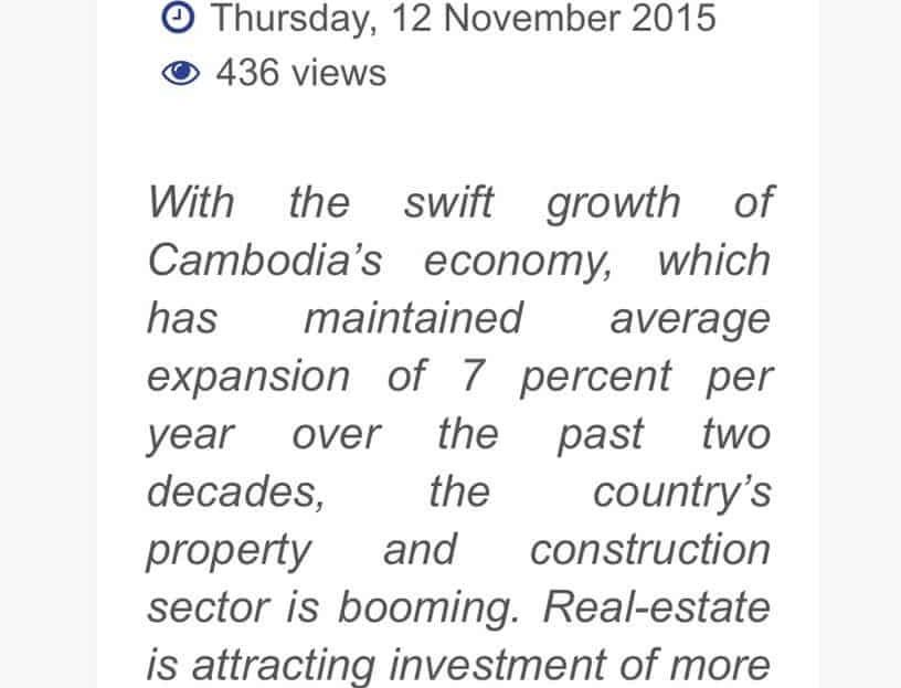 News on Office Trend in Phnom Penh Cambodia
