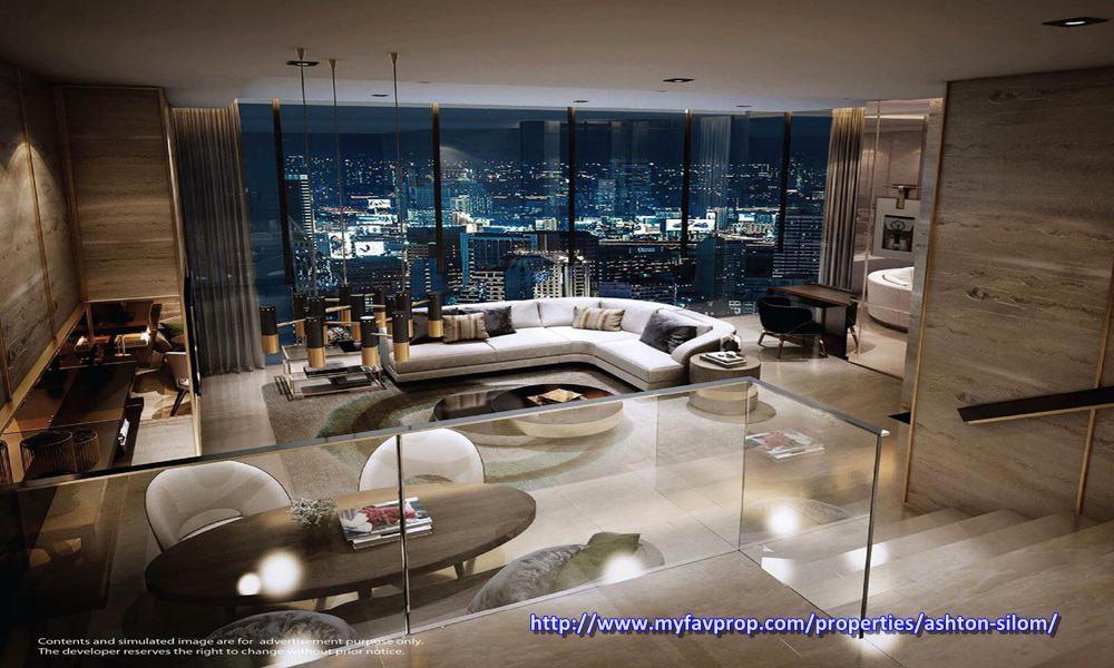 Ashton Silom Spacious Living room