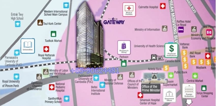 The Gateway Location Map