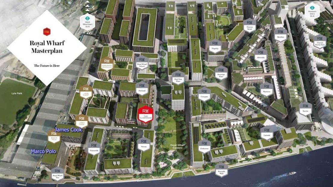 Royal Wharf Masterplan