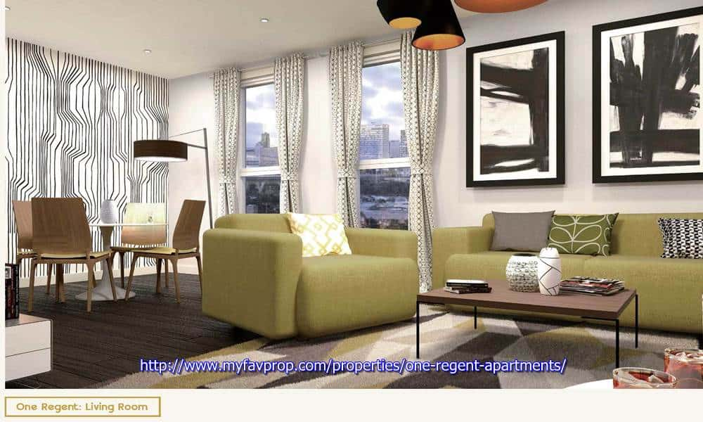 One Regent Apartments - Living Room