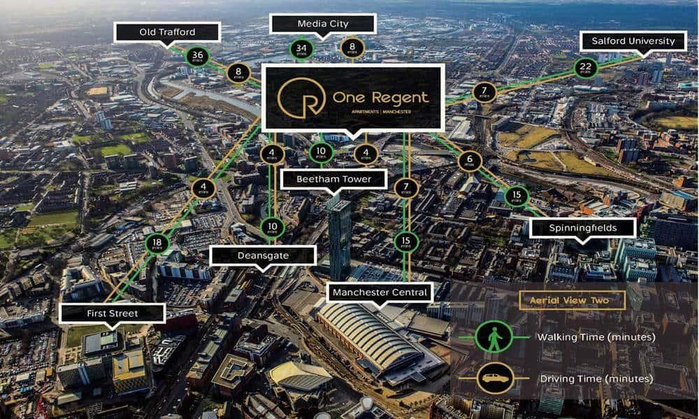 One Regent Apartments - Location distance