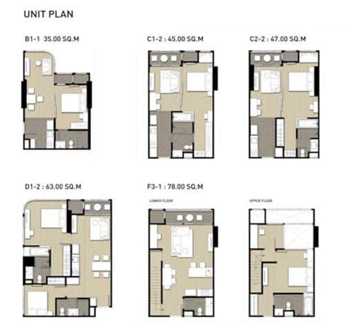 Q Chidlom - Typical Floor Plan
