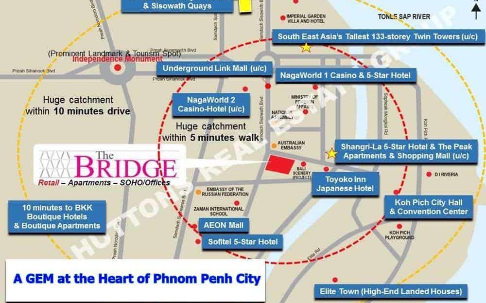 The Bridge Retail Mall - surrounding amenities