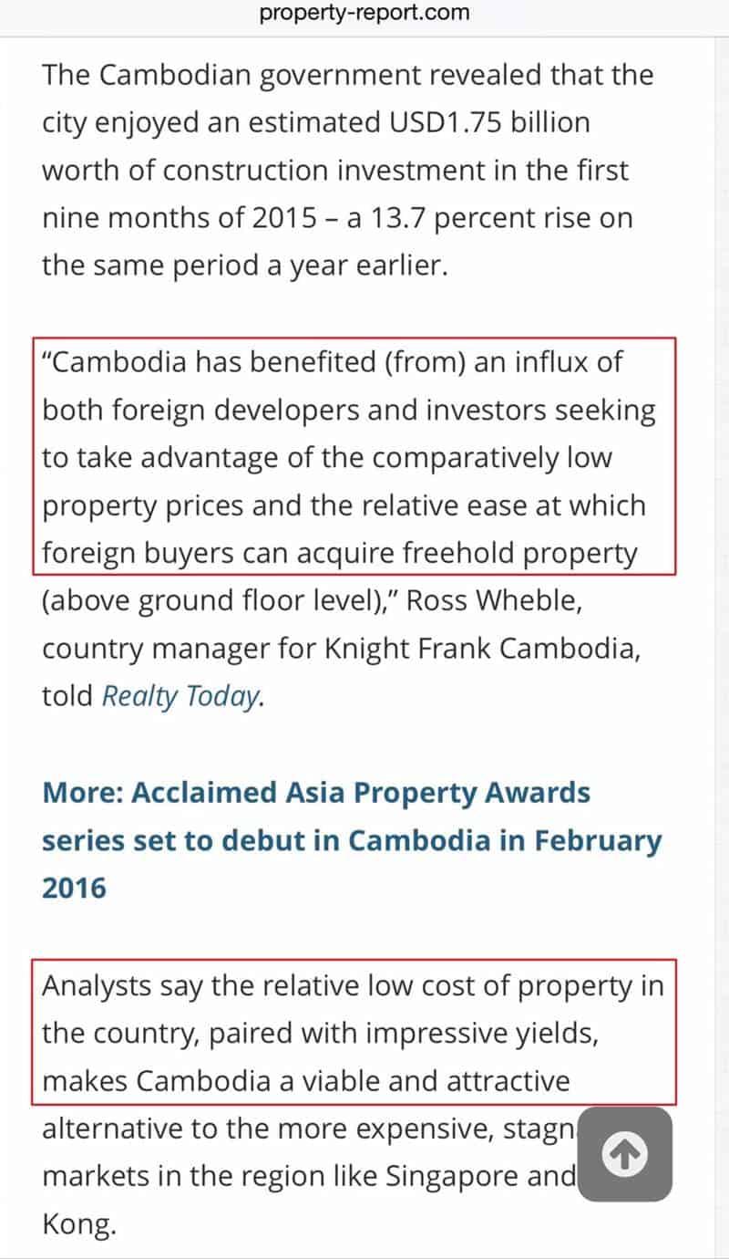 Cambodia ROI & Yield