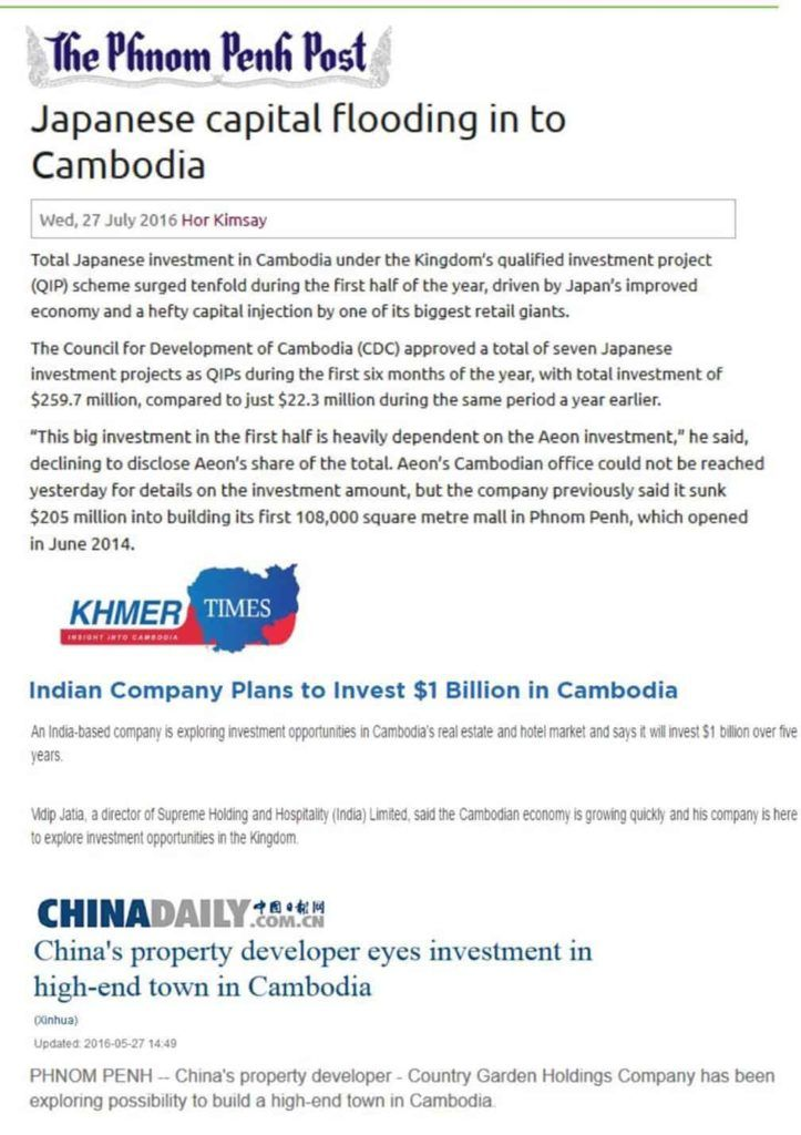 Cambodia Property - Japanese investment in Cambodia