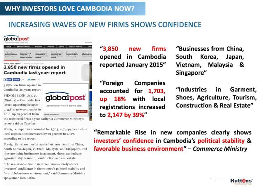 Cambodia Property News - 2016 New firms registration