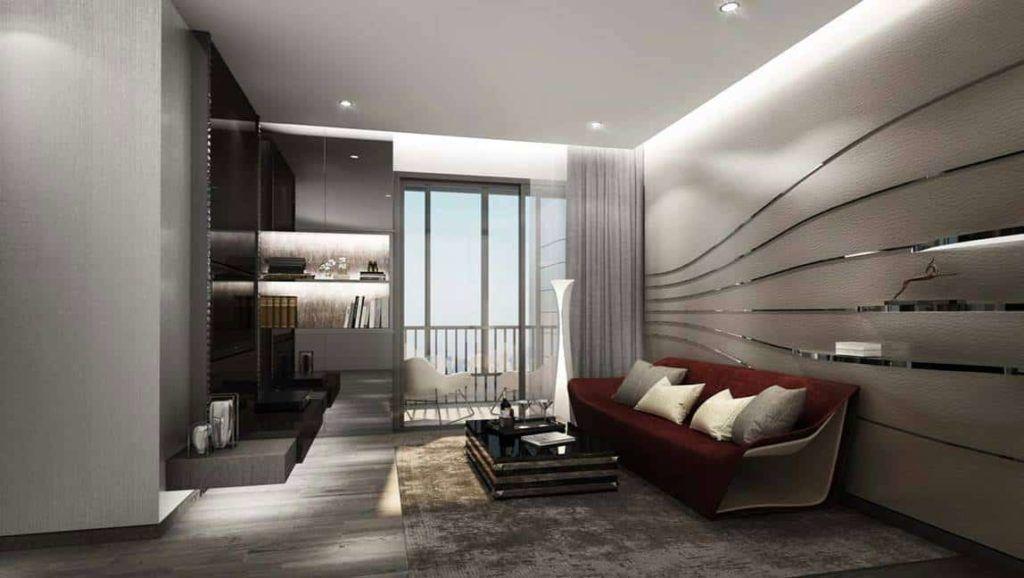 Ideo Mobi Asoke - 1BR Living area
