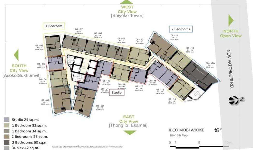Ideo Mobi Asoke - Typical Floor Plan