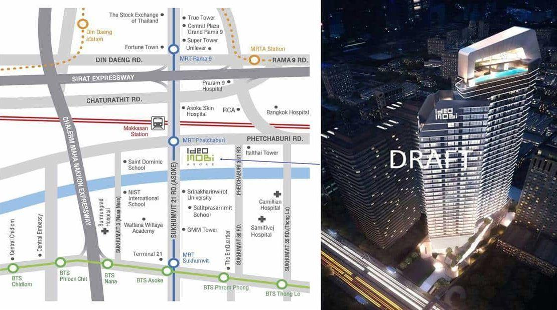 Ideo Mobi Asoke - Location Map