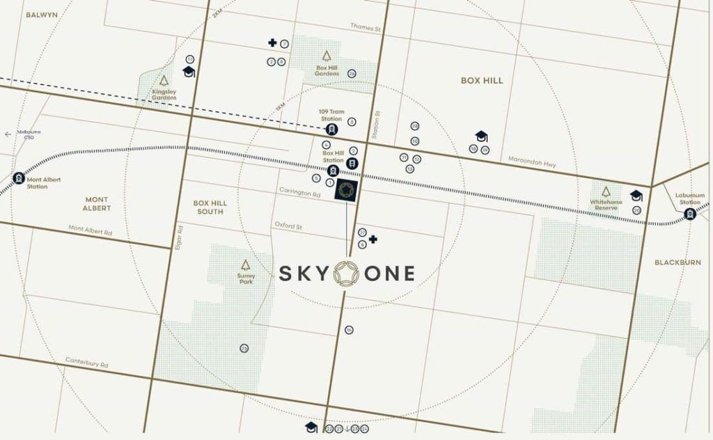 Sky One - Location Map