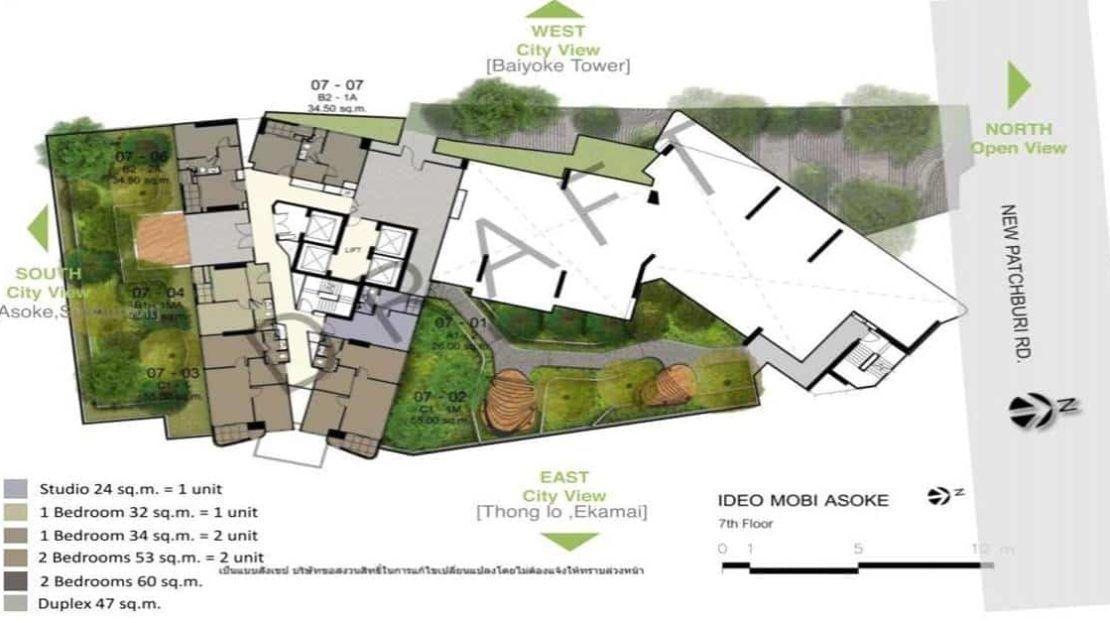 Ideo Mobi Asoke - SIte Plan 7 Floor