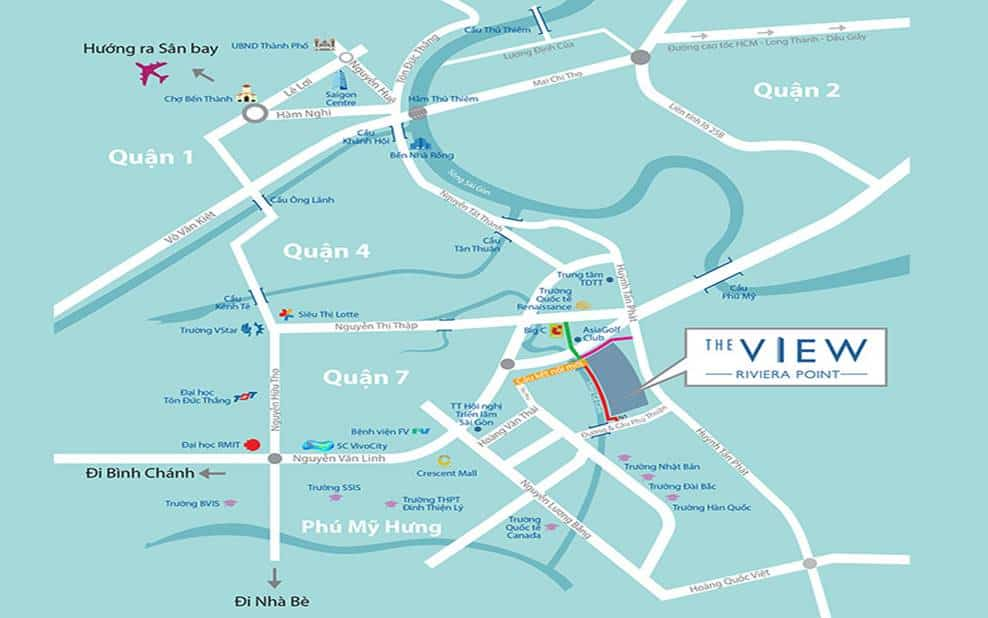 The View Riviera Point Location Map