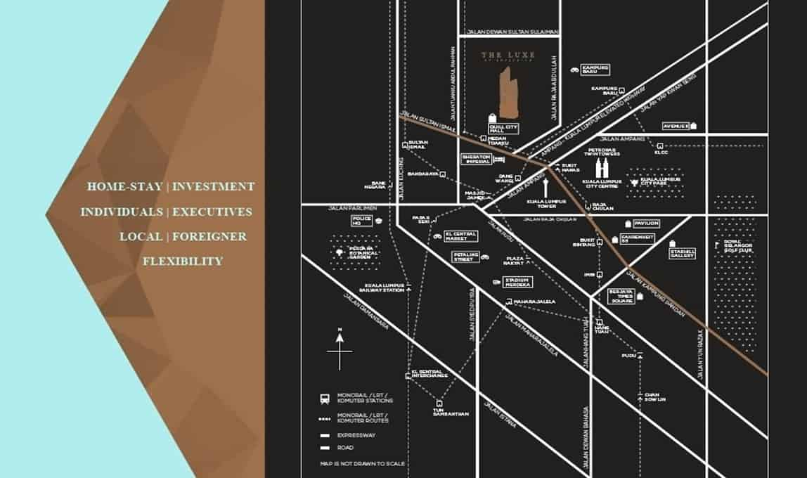 The Luxe by Infinitum - Location Map