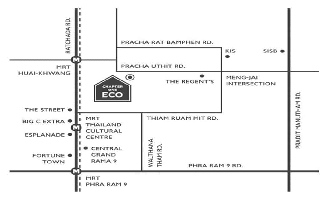 Chapter One Eco Ratchada - location map