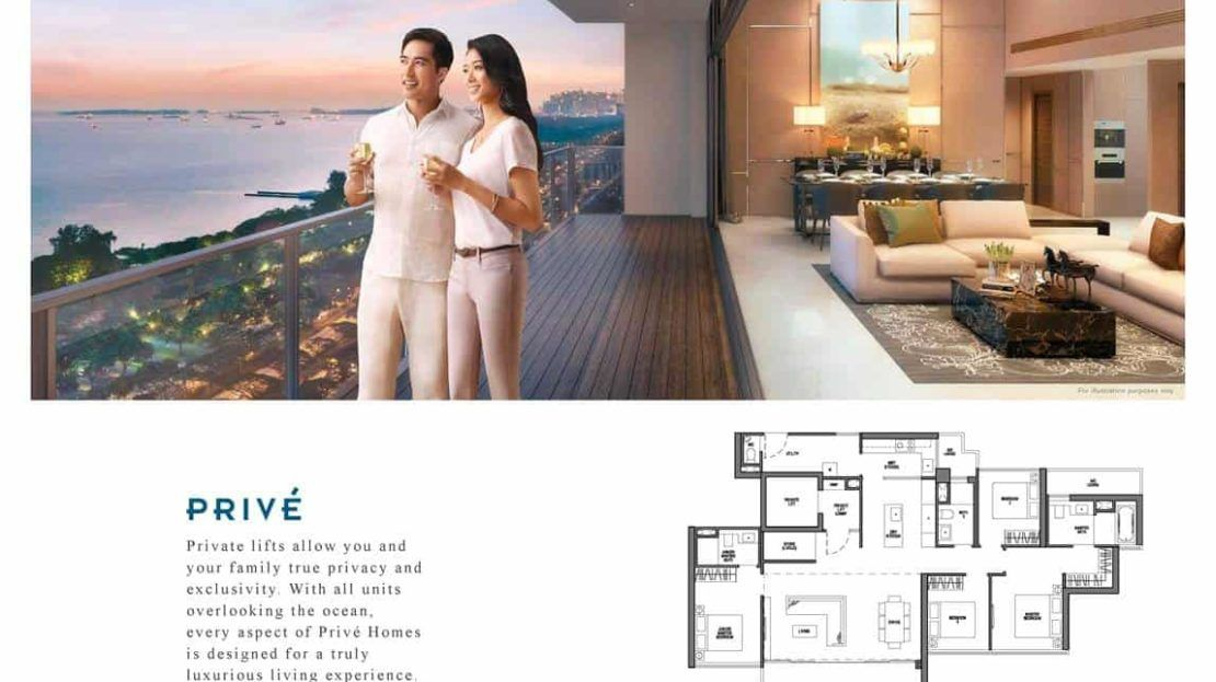 Seaside Residences - Prive Floor Plan