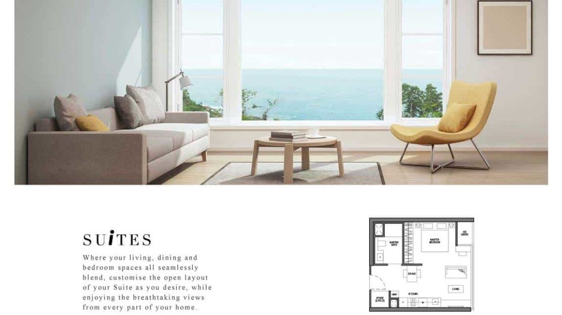 Seaside Residences - Suites Layout