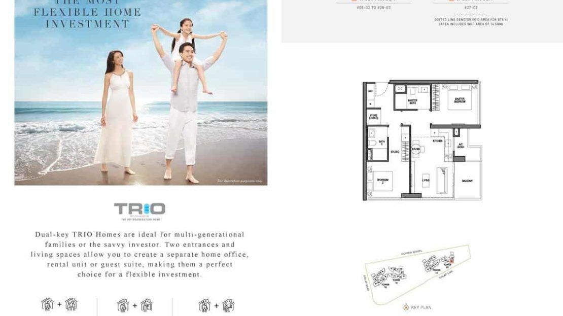Seaside Residences - Trio 2 Key Floor Plan