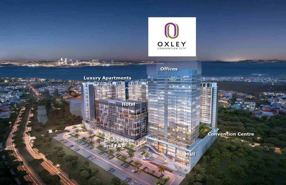 Oxley Convention City - Nite Facade
