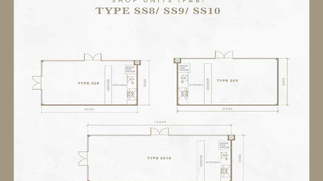 Oxley Collection - Typical Shops Floor Plan