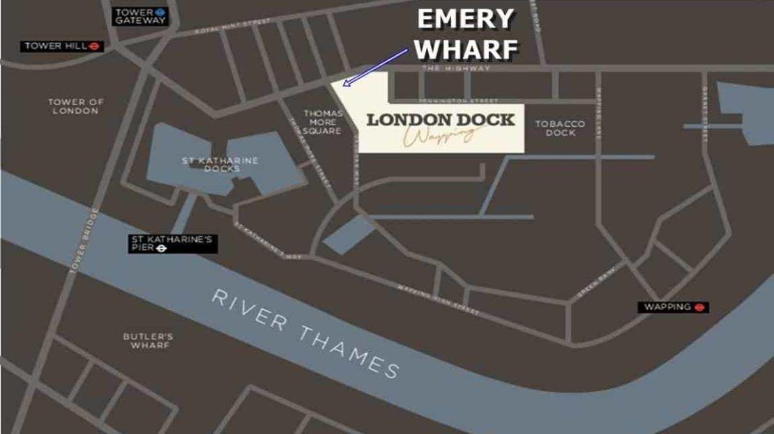 Emery Wharf - Location Map