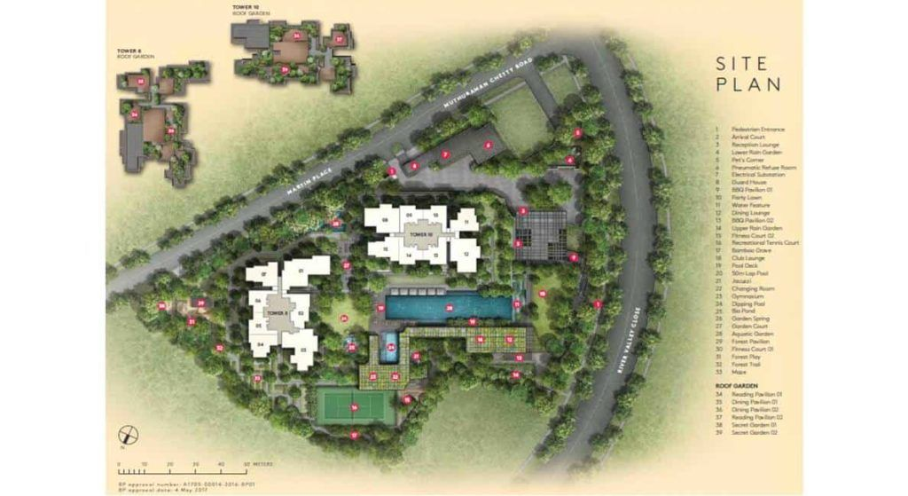 Martin Modern - Site Plan and Amenities