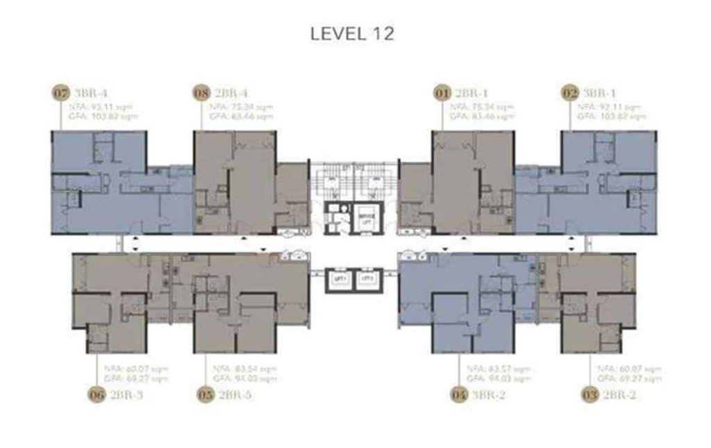 D1mension HCMC - Level 12 Floor Plate