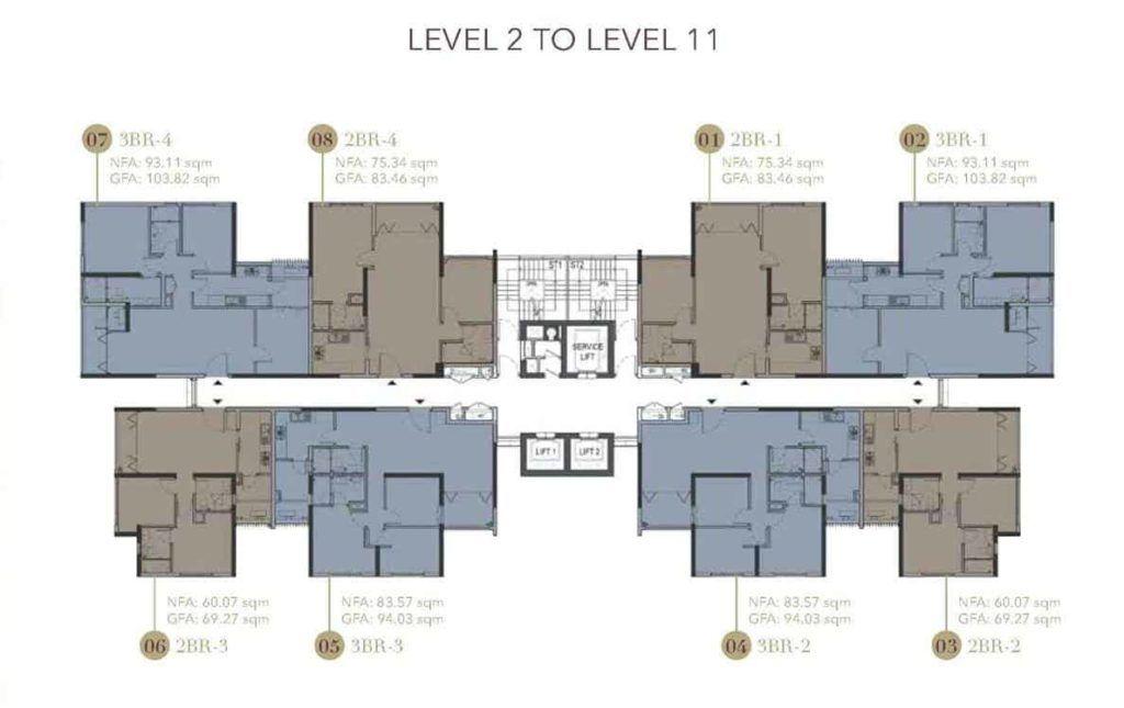 D1mension HCMC - Levl 2-11 floor plate