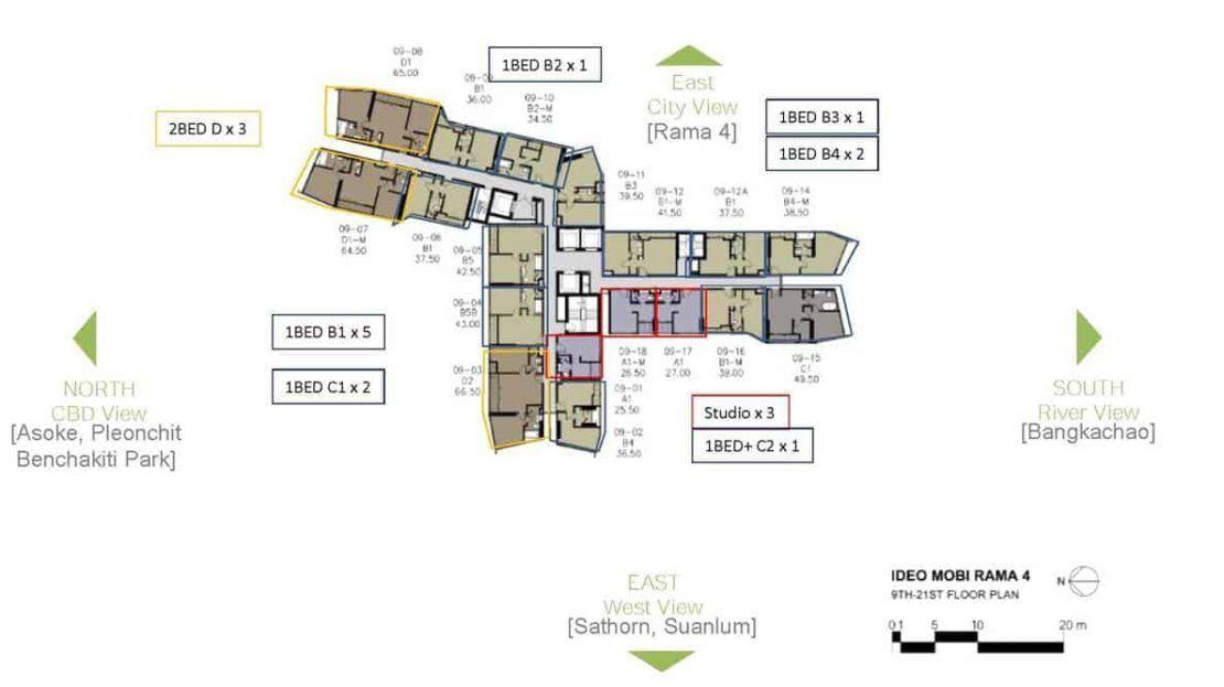 Ideo Mobi Rama 4 - Floor Plan