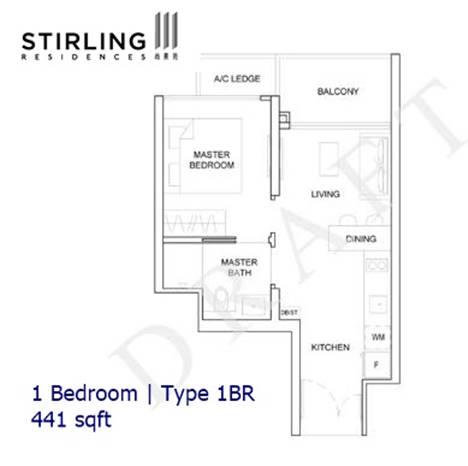Stirling Residences - 1BR Type 1BR