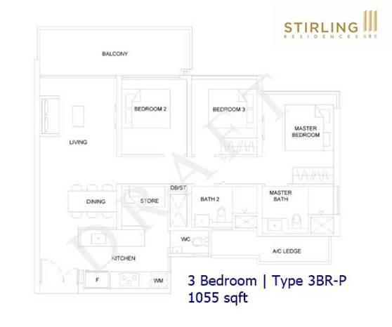 Stirling Residences - 3BR Type 3BR-P