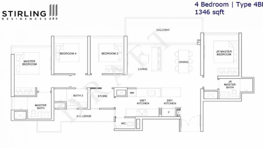 Stirling Residences - 4BR Type 4BR