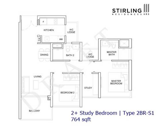 Stirling Residences - Type 2BR-S1