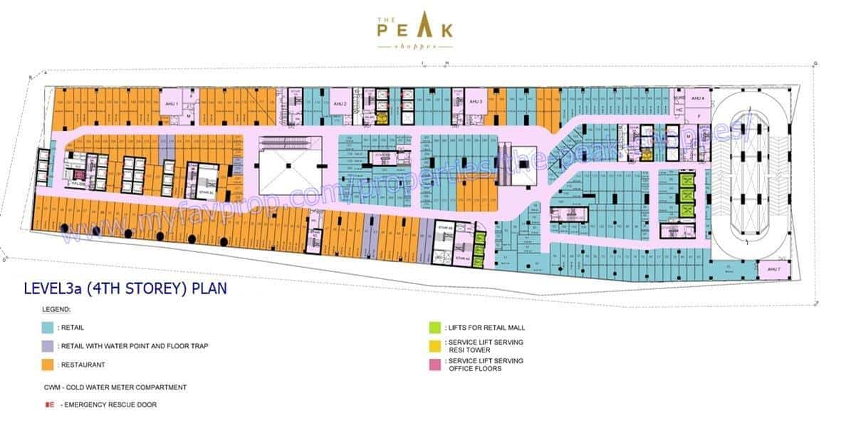 The Peak Shoppes - Level 3A Floor Plan